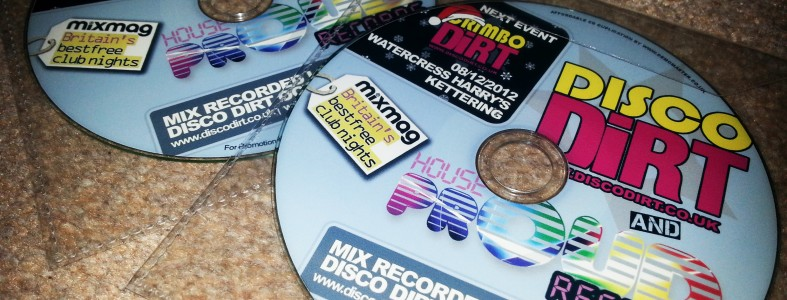 Disco Dirt & House Proud Promo mix CD Printing Duplication
