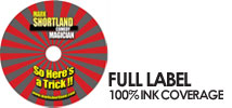 Disc Printing with 100% ink coverage