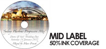 Disc Printing with 50% ink coverage