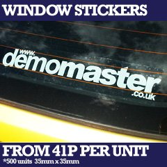 custom printed car window stickers