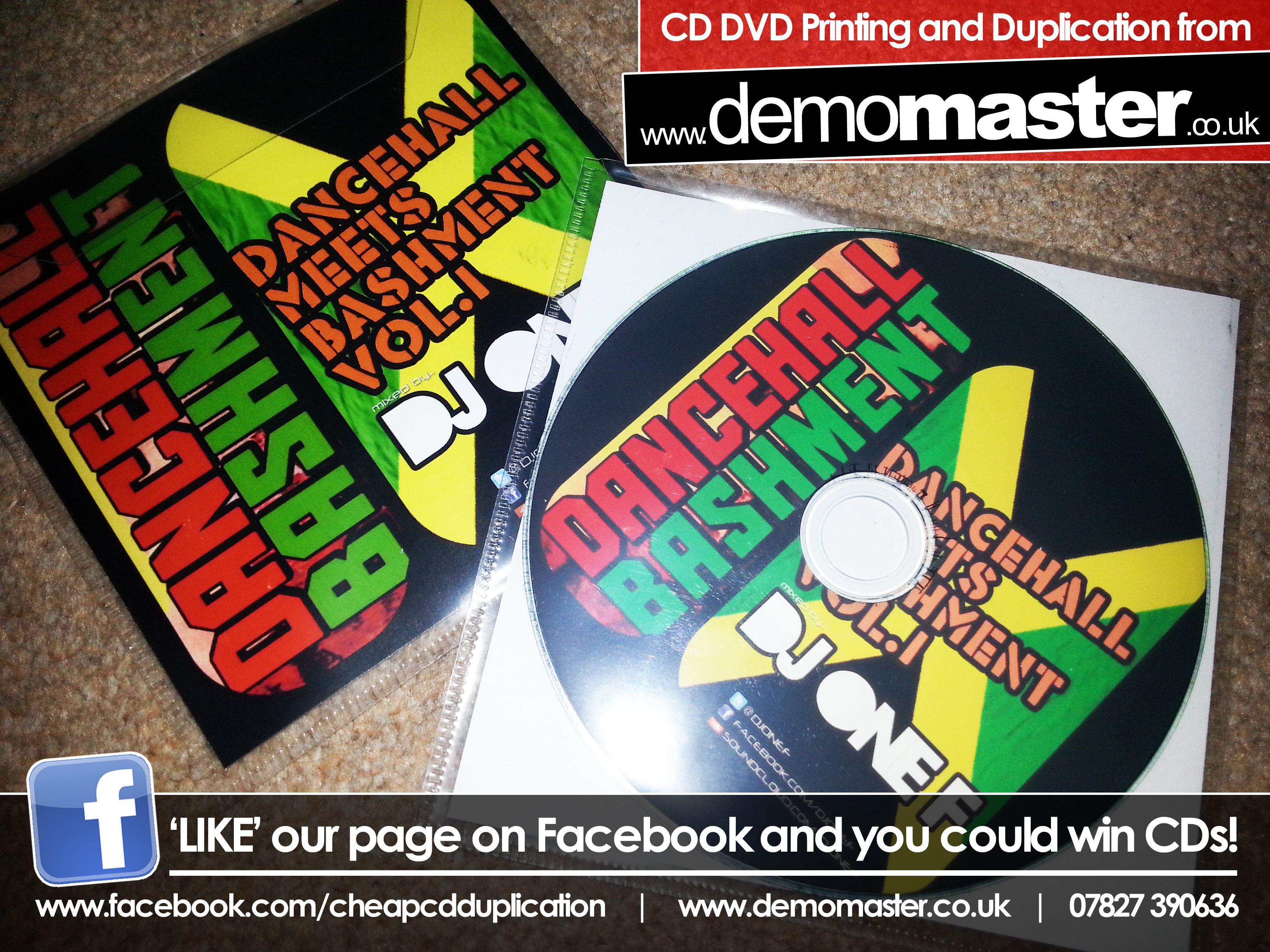 Dancehall meets Bashment Vol 1 mixed by DJ One F - Demomaster CD