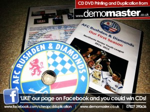 AFC Rushden & Diamonds End of Season Review 2011-2012 DVD Printing Duplication