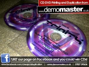 CD Printing - 100% ink coverage