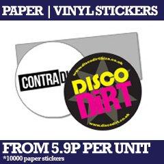 Custom printed paper or vinyl stickers