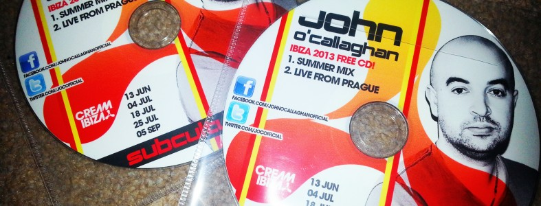 John O'Callaghan Cream Ibiza 2013 Free Promo CD