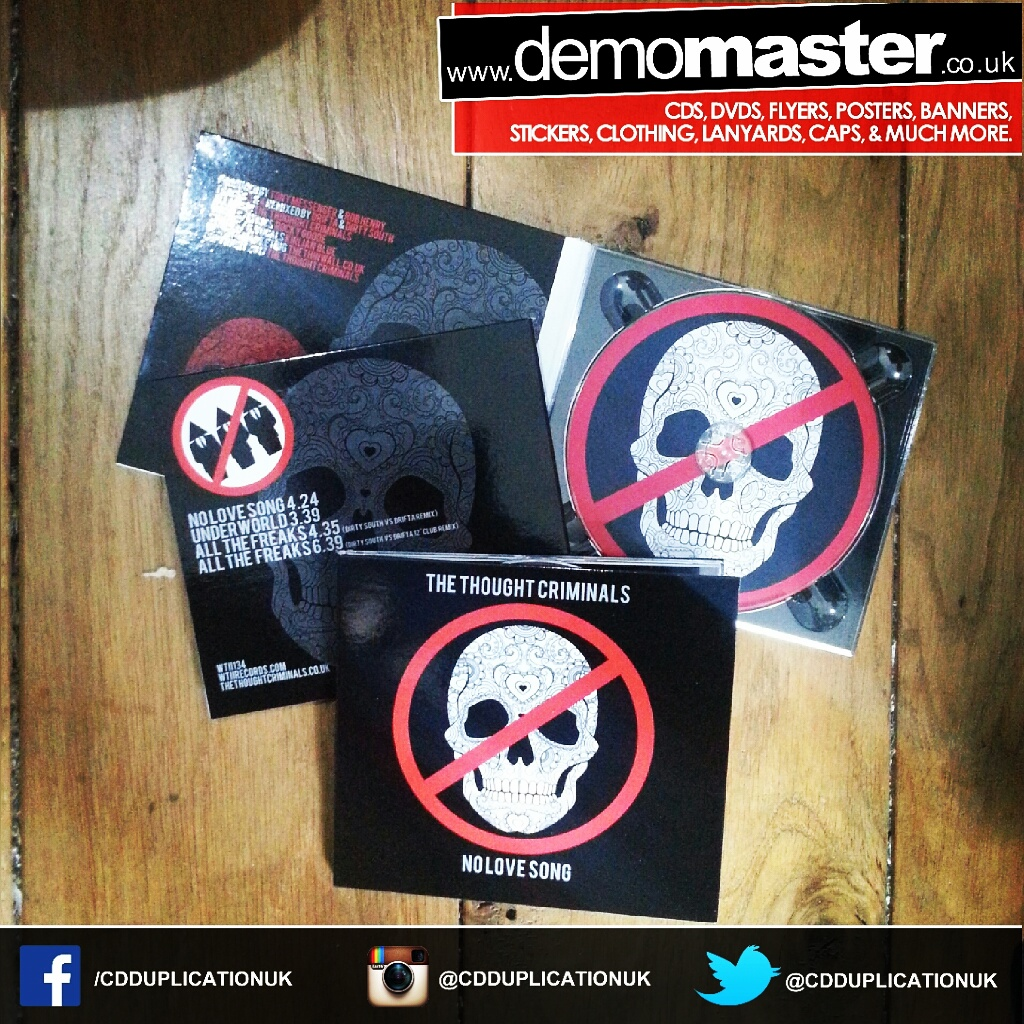 Custom printed digipacks to compliment your CD duplication