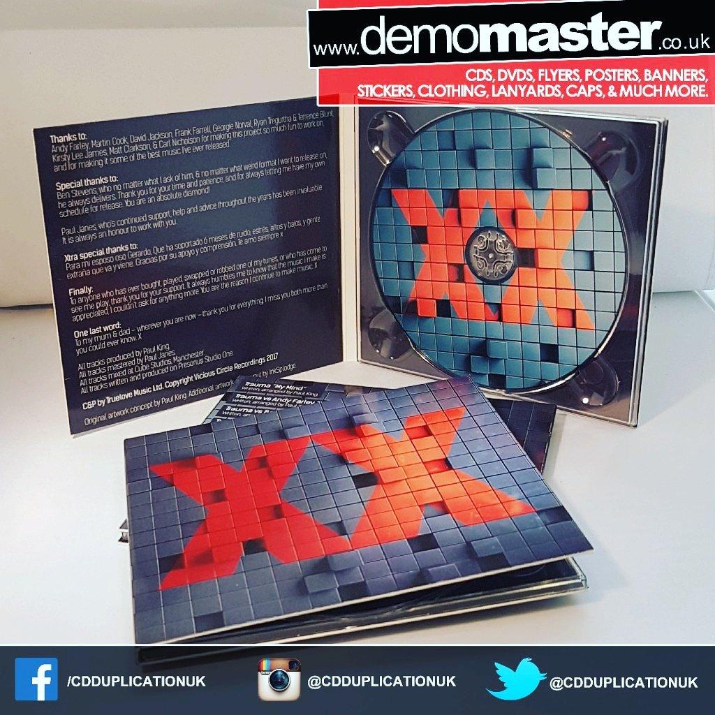 New music album in custom printed Digipacks