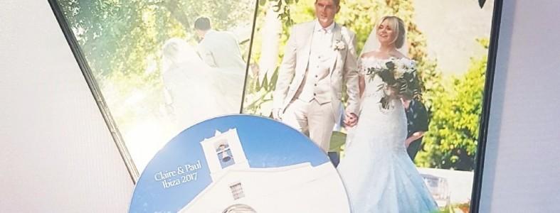 Wedding souvenir with DVD Duplication