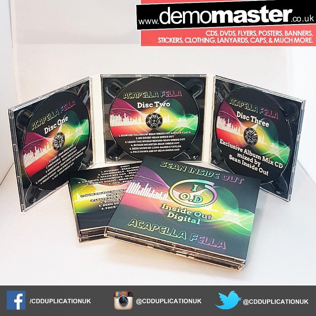Triple CD custom printed Digipacks
