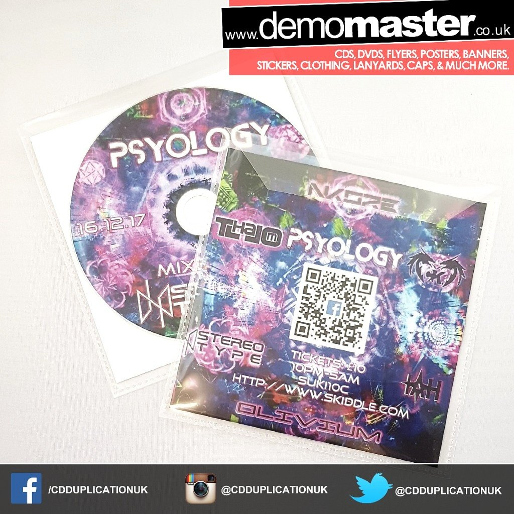 Promo CD Printing for merch and gifts