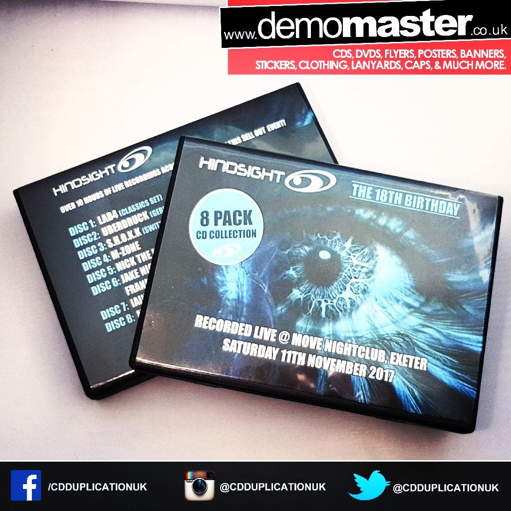 Event packs with 8 CDs custom printed