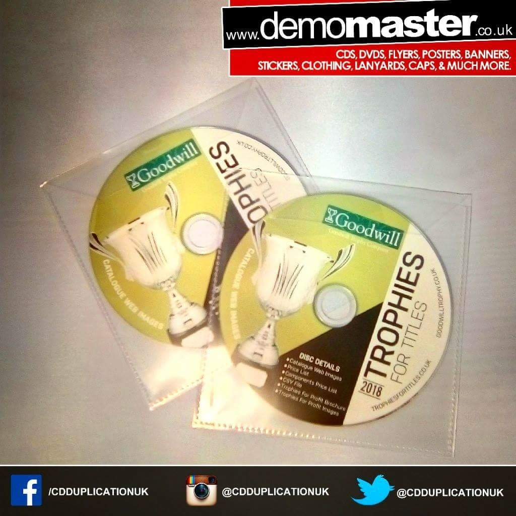 Your full product catalogue on custom printed CDs