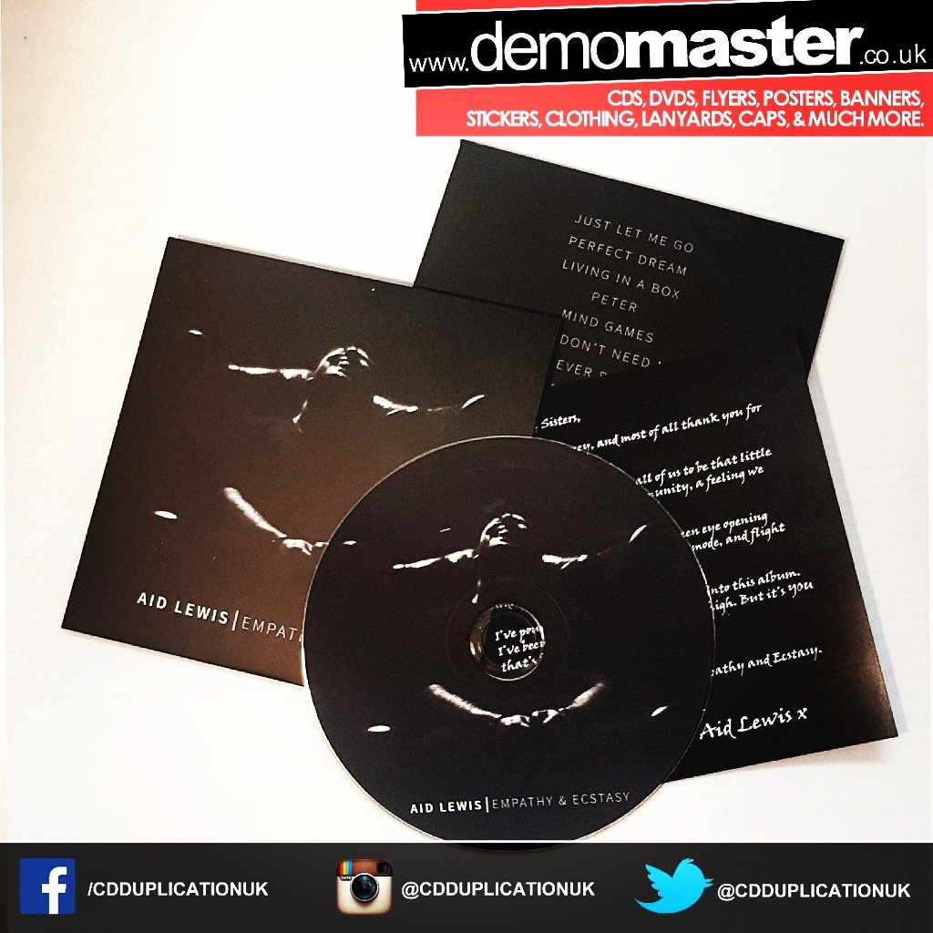 Custom printed card wallets with extra insert and cd duplication