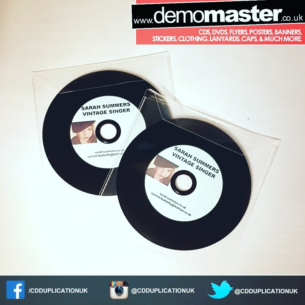 Printed vinyl look CDs with your artwork