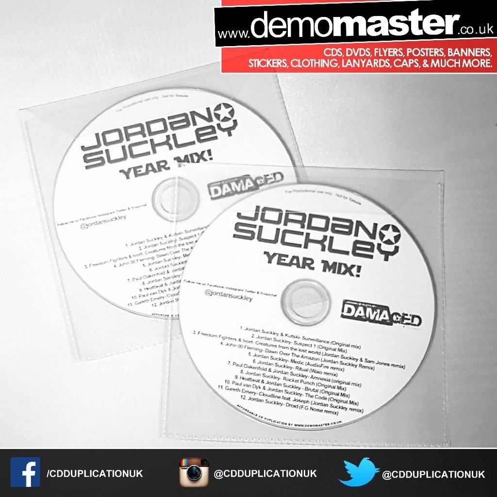 Jordan Suckley promo dj mix cd exclusive