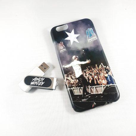 Custom print phone case and usb combo