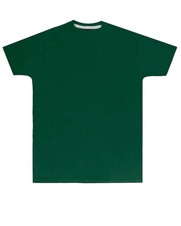 Premium Bottle Green Printed T Shirt