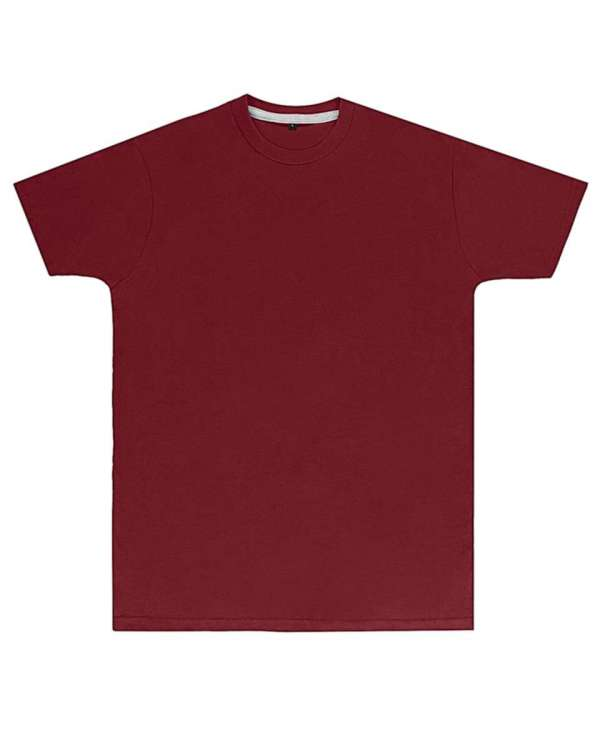 Premium Burgundy Printed T Shirt