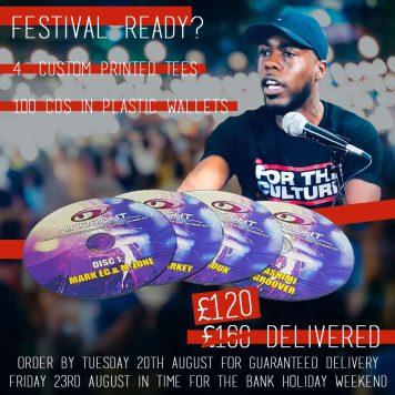 Festival CD T Shirt Printing Deal