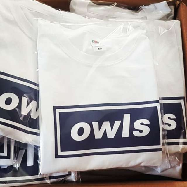With artwork and layout approved one afternoon, 50 of these #oasis inspired #swfc t shirts were ready for collection only 24hours later! #garmentprinting #customprinting #24hourturnaround #music #merchandise #footballfans #tshirtprinting #football #soccer